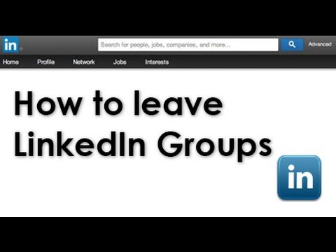 How to leave a LinkedIn group