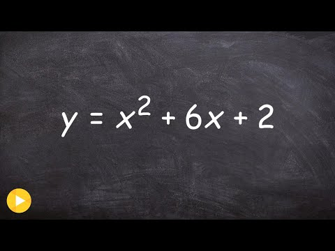 Converting an equation to vertex form then determine the vertex