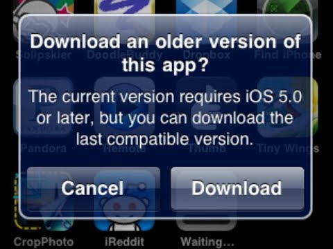 How to Install Any App on iOS 5.1.1 or Older - (ipad First Gen)