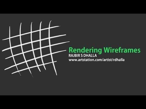 Rendering Wireframes with Autodesk Maya
