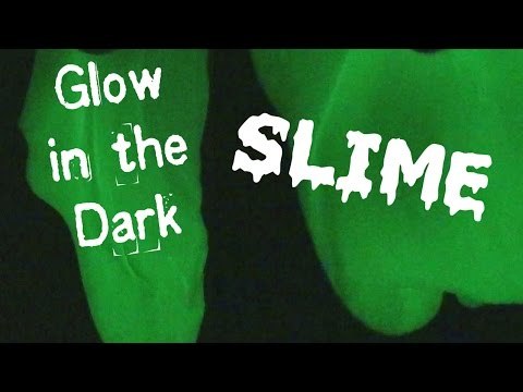 Glow in the Dark Slime ♥ Glows without a blacklight!