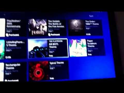 How to get themes on Playstation 4