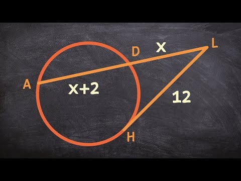 Determine the missing value for the length on a secant line using a tangent line