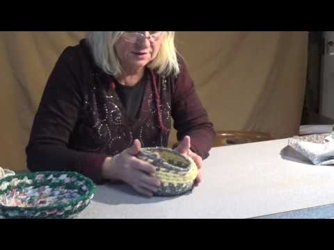Rag and Rope Basket using the Figure 8 stitch - No glue No sewing Machine traditional