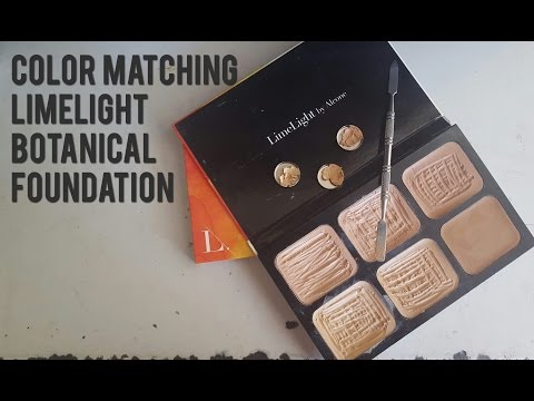 Color Matching LimeLight Botanical Foundations