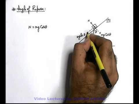 8. Class 11th Physics | Friction | Angle of Friction & Angle of Repose | by Ashish Arora (GA)
