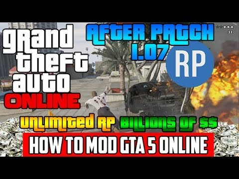 GTA 5 Online: MOD BILLIONS AND UNLIMITED RP (Tutorial) GTA V Online Mod Tool After Patch 1.08