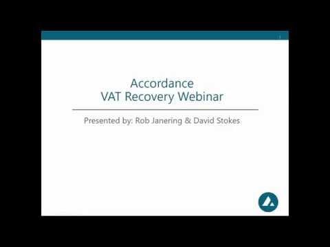 VAT Recovery Webinar 26th July 2016