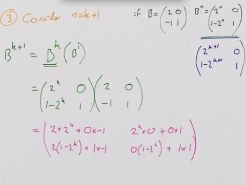 How to: Prove by Induction - Proof of a Matrix to a Power