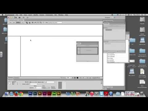 Week 04/01 - Using FRAMES in Adobe Dreamweaver