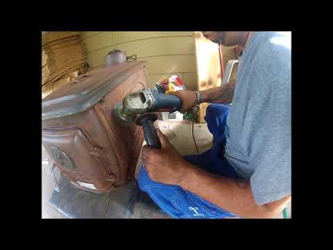 restoring a cast iron wood stove