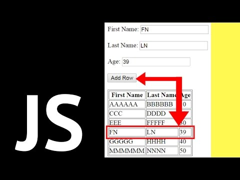 Javascript - How To Add A Row To An HTML Table In JS [ with source code ]