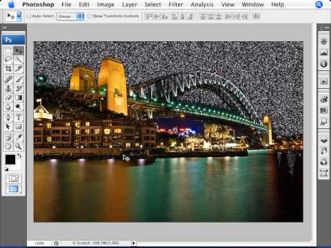 Learn Photoshop - How to Create a Starry Sky