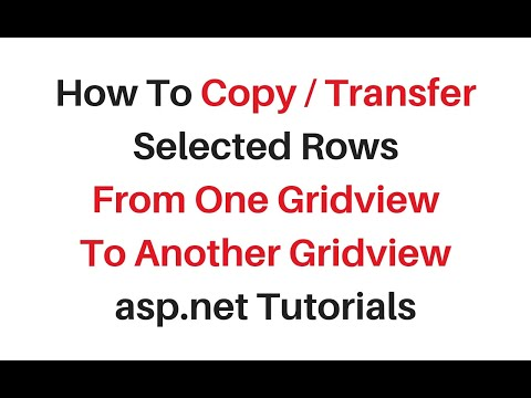 copy selected rows from one gridview to another asp.net c#4.6.1