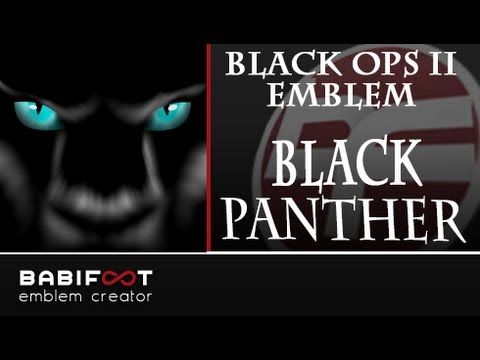 COD Black Ops 2 Emblem Tutorial - Black Panther