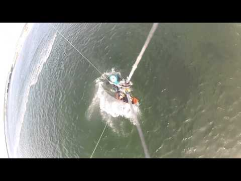 Kiteboarding Martha's Vineyard Jaws Bridge (Sengey Bay) 9/2015