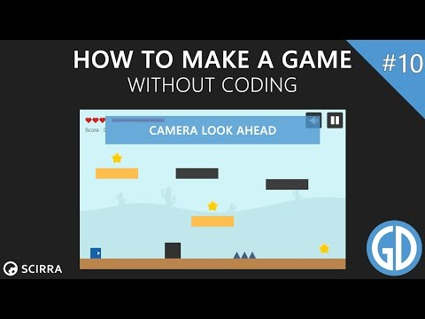 10. How To Make A Game (Camera Look Ahead) Construct 2 Tutorial