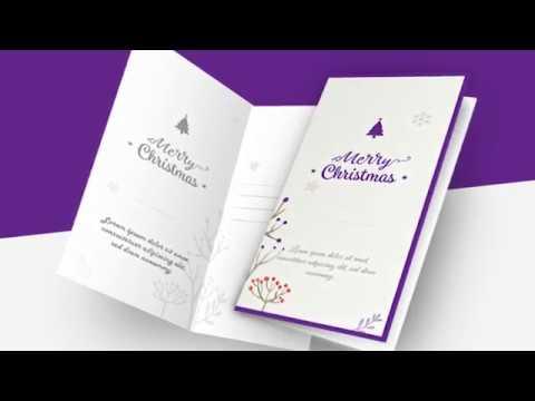 Editable Customizable Printable Christmas Card Templates