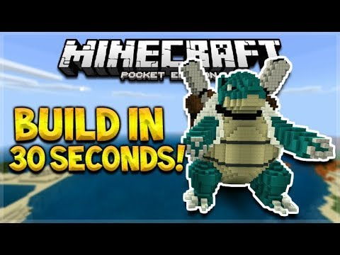 BUILD MCPE HOUSES IN SECONDS!! Minecraft PE Aquatic Update - Build Statues, Houses In 30 Seconds!