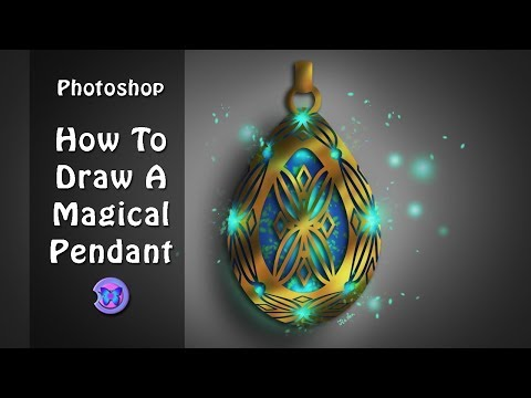 Photoshop Digital Painting Tutorial For Beginners : How To Draw A Magical Pendant