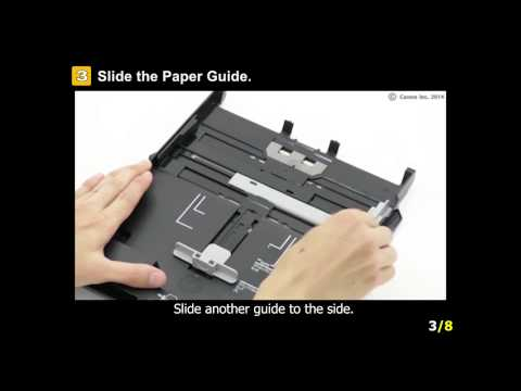 PIXMA MG7520: Setting 5x7 or smaller paper (cassette 1)