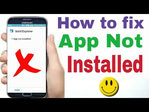 how to fix app not installed android