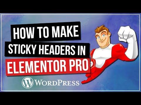 Elementor Sticky Header Tutorial