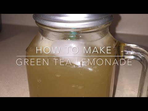 DIY Green Tea Lemonade