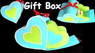 DIY - How to make HEART GIFT BOX? /paper craft/ best gift ideas/ valentine day gift box.