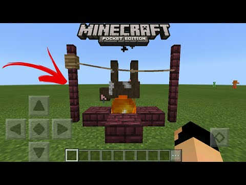 MCPE 1.1 Natural BBQ Using Commands | Command Block Creation