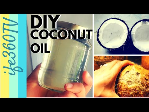 HOW TO MAKE COCONUT OIL AT HOME | DIY Coconut Oil for Hair, Skin