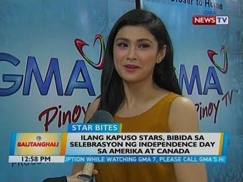 BT: Ilang Kapuso stars, bibida sa selebrasyon ng Independence Day sa Amerika at Canada
