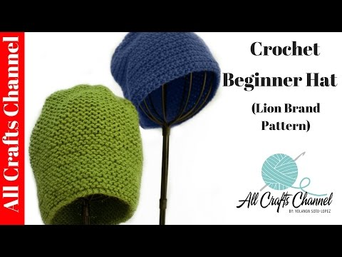 How to crochet Quick and Easy Beginner Crochet Hat - Yolanda Soto Lopez