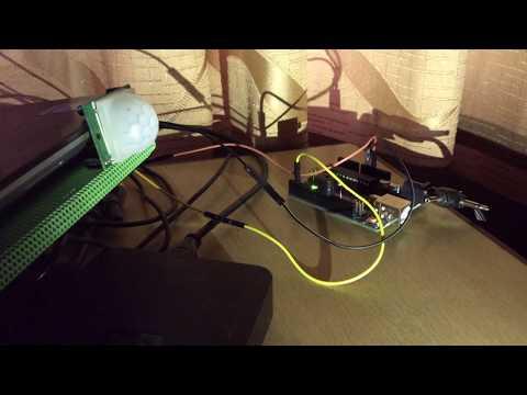 Simple house alarm using 5 V piezo buzzer and PIR sensor