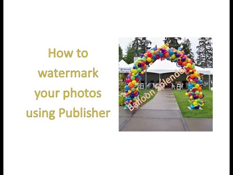 Publisher Tutorial: How to create a watermark