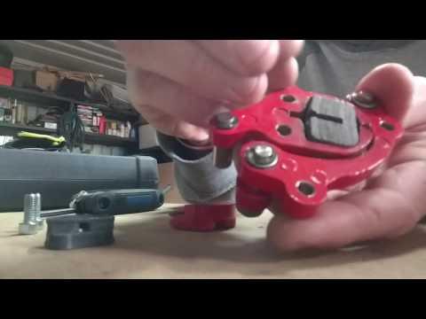 Monster Moto mini bike brake pad replacment