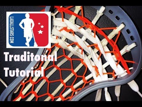 Traditional Lacrosse Pocket Stringing Tutorial
