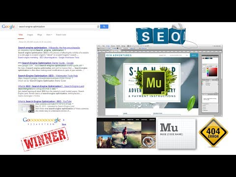 ADOBE MUSE CC about seo | Search Engine Optimization | 404 ERROR HTML PAGE