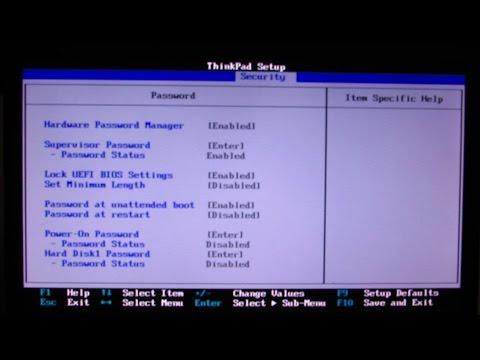 How to unlock BIOS Supervisor Password from Lenovo Thinkpad