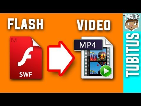 How to export a Flash animation in video format / from swf to video