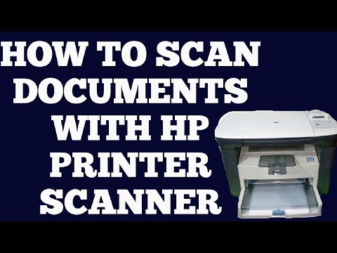 HP LASERJET M1005 MFP SCANING A DOCUMENTS    How to scan documents with hp printer    hindi   
