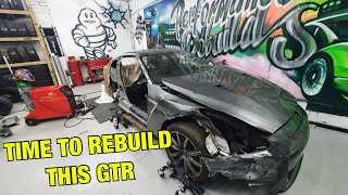 Rebuilding a salvage Nissan GTR part 9 (HOW BAD DOES IT LOOK?)