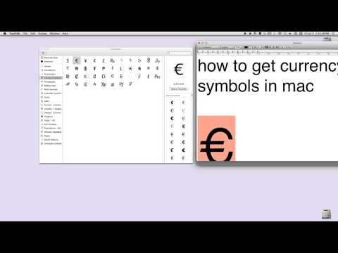 how to get currency symbols in mac