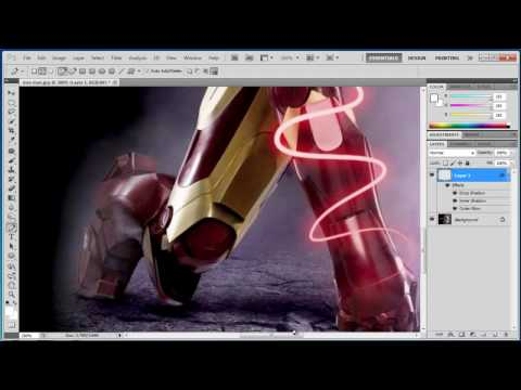 Photoshop CS6 - Shiny Glowing Lines - Tutorial