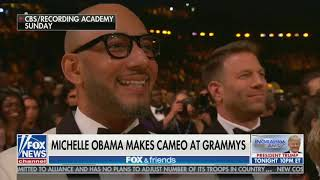 Download After Her Grammys Appearance, Fox & Friends Worry Michelle Obama Might Run For President Video