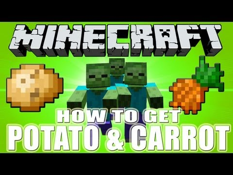 Minecraft How to Get Potato and Carrot