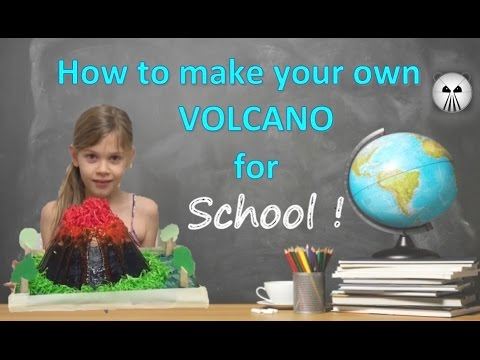 How to make your own VOLCANO for School with Sky lily