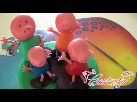 Tutorial La Famiglia Peppa Pig cake topper in pasta di zucchero fondant sugar paste