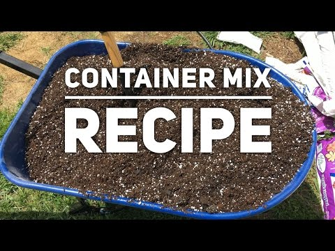 How to make potting mix for containers growing peppers and other plants  - recipe