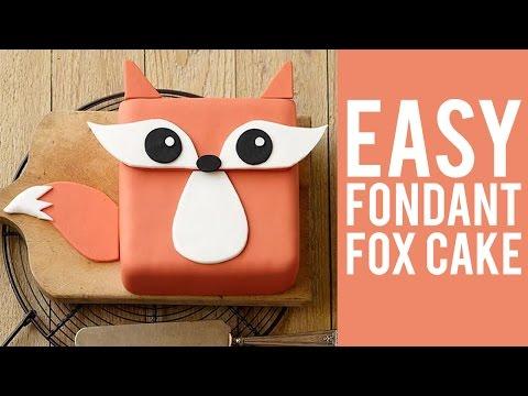 How to Make a Beginner Fondant Fox Cake